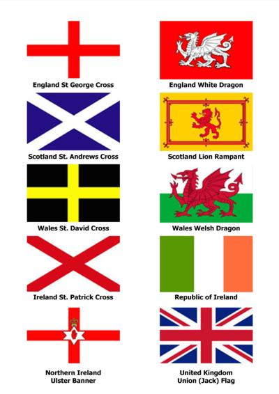Flag Banner Ireland Ulster Flag 5ft x 3ft 150cm x 90cm
