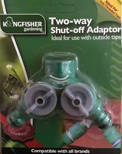 Two way shut off adaptor