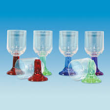 Coloured stem wine glass