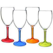 Thin Stem Coloured Wine Glass